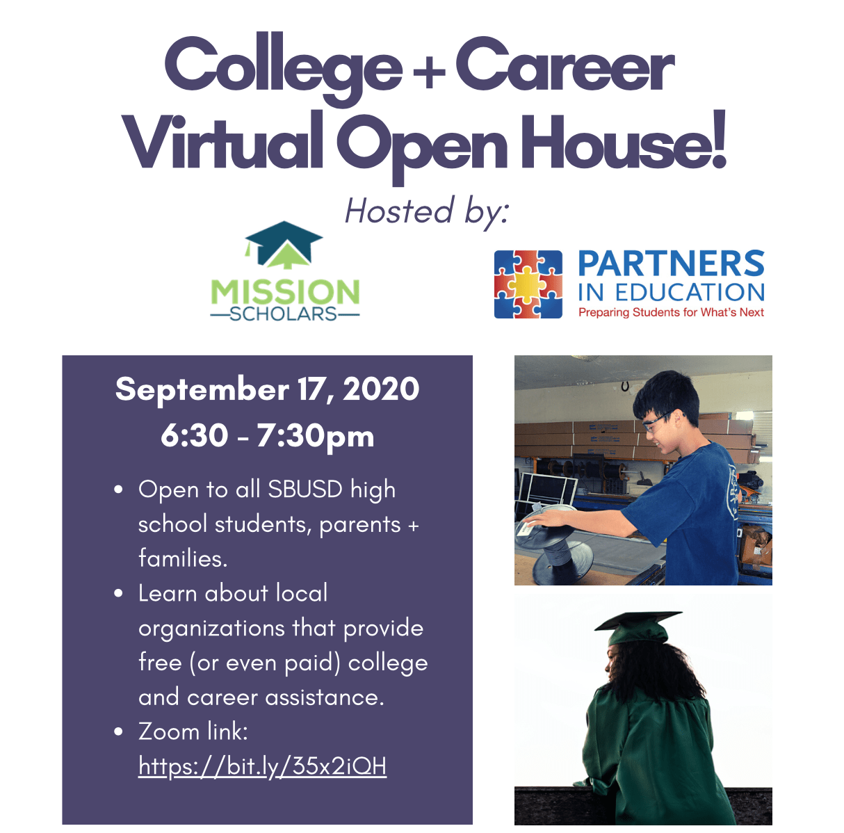 Mission Scholars College + Career Virtual Open House