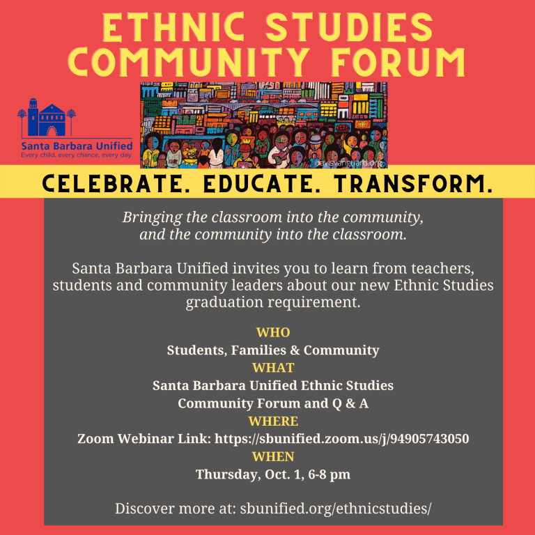 Santa Barbara Unified Ethnic Studies Community Forum